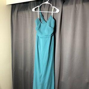David's bridal bridesmaid dress 8 teal